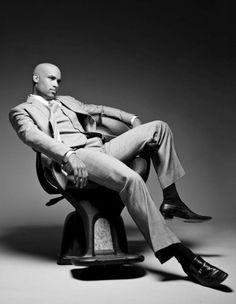 mens black white photography | ... Men Alive Network - Boris Kodjoe black and white photo shoot in suit