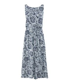 This Blue Floral Twirl Dress is perfect! #zulilyfinds