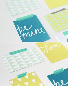 Modern Valentine card | Free Printable | via Paper & Stitch