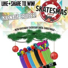 Win a Karnage Skateboard! Skatesmas 2015 is here! Each day on the run up to Christmas we're giving you the chance to win some awesome prizes! All you have to do is like and share the image on Facebook or Instagram today along with @skatescouk for a chance to win. Check out the Skatesmas winners section of our site every Monday to find out if you've won! www.skates.co.uk/skatesmas-winners #skatesmas  Karnage: Facebook - Karnage Skateboards Twitter - @KarnageSkate