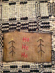Primitive Sampler ~ Christmas Stitchery~~~~ Christmas Trees ~ Free Shipping