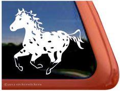 Amazon.com: Appaloosa Horse Trailer Vinyl Window Decal Sticker: Automotive
