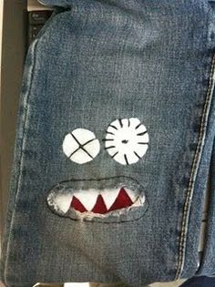 I love this idea!!  Because little boys wear out their jeans before they grow out of them!