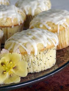 Lemon Poppyseed Muffins::