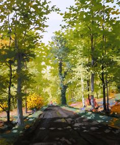 A walk into the Fontainebleau forest? Have a look at the works of Hervé Turpin... and breathe!  #achetezdelart #art #artguide #barbizon #barbizonschool #buyart #buyartonline #fontainebleau #forest #gallery #green #landscape #madeinfrance #nature #painter #spring