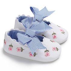 Cute Newborn Infant Toddler Bow Prewalkers Princess Moccasins Soft Moccs