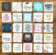 Mini scripture cards to share with your friends! Christian gifts.