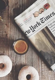 Espresso, donuts and the New York Times | My Little Fabric