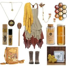The Beekeeper by maggiehemlock on Polyvore featuring polyvore, fashion, style, AllSaints, Jen Kao, Dr. Martens, Disaster Designs, Fornash, Betsey Johnson and Skeem