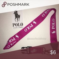 POLO lanyard | pink | fuchsia Yes it's  available✳️   Lanyards Only, sticker is just for decoration  No tags❌ Not accepting offers on individual items❌ No trades❌.                                                                                         Price is FIRM ✅  🔅•Prices for Bundles •🔅 1 lanyard $6 2 lanyards $10 3 lanyards $12 4 lanyards $14 5 lanyards $16 6 lanyards $18 Polo by Ralph Lauren Accessories Key & Card Holders