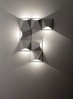 Contemporary wall light / square / metal / LED MATS 4564 4565 Egoluce
