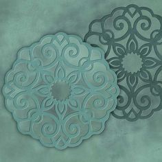 Stencils | Ornamental Lace Medallion Set | Royal Design Studio.  Stencils for a tiny area, like a drawer panel on a solid color one-drawer chest.