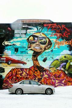 Unkown - street art Montreal     ////hip hop instrumentals updated daily => http://www.beatzbylekz.ca