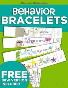 Behavior Bracelets--I like this because it uses senses other than sight and hearing to mediate behavior.