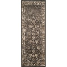 Vintage Soft Anthracite 2 ft. 2 in. x 6 ft. Rug Runner