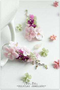 Jarná sakura. by .Zu.Zu. - SAShE.sk - Handmade Náušnice