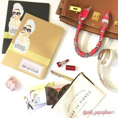 Survival Rule of Planner Addict's Bag: Minimize everything to carry heavy stationary items.  1 small card case instead of a big fat wallet and 1 mini lipstick instead of a fully packed makeup bag....  #wimb #etsy #cute #kawaii #plannernerd #planneraddict #plannergoodies #sticker #erincondrenlifeplanner #kikik #katespadeagenda #filofax  #princess #diva  #illustration #divasclub #ppdivasclub  #girlboss #girlpower #weloveec #fashion #diva #illustration #portrait #fashionportrait…