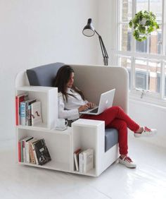 62 Pieces of Bookworm-Friendly Furniture - From Shelf-Incorporated Seating to Book Nerd Furniture (TOPLIST) #KjK