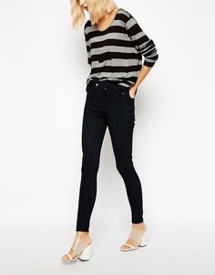 Image 1 of Cheap Monday Spray On High Waist Skinny Jeans