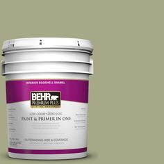 BEHR Premium Plus 5-gal. #S360-4 Meditation Time Eggshell Enamel Interior Paint