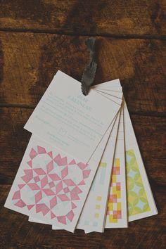2012 Quilt Pattern Letterpress Calendar