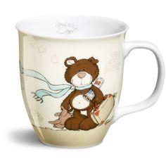 Nici Mug bear dark brown travelling #mug #mugs #Nici #bear