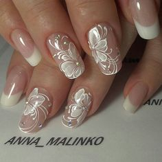 Bride & Wedding Nail Design wedding nails pictures - Braut Nägel - Bridal nails - Herrlich Hair and Nail-Ideen Bridal Nails Designs, Bridal Nail Art, Wedding Nails Design, Wedding Designs, Wedding Ideas, Wedding Nails For Bride, Bride Nails, Prom Nails, Fall Wedding