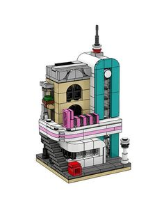 With the recent release of images of the Downtown Diner play decided to create their own mini modular version. The model perfectly captures the Art Deco diner including its major details.