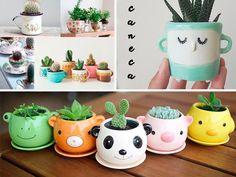 Ideias de vasos para cactus e suculentas | Vida Louca de Casada