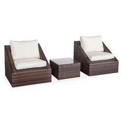 salon de jardin 3 elements en resine tressee 2 fauteuils 1 table basse empilable