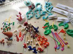 Vintage cake toppers HUGE lot of cake decorations by Mamaphias