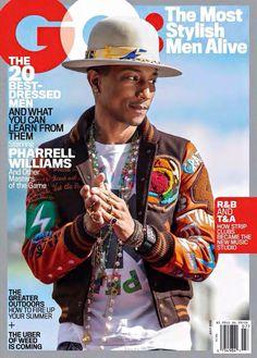 Pharrell Williams ~ GQ: Most Stylish Men Alive, July Pharrell Williams, Calvin Harris, Avicii, Amy Winehouse, Chris Brown, Ed Sheeran, Most Stylish Men, Best Dressed Man, Gq Magazine