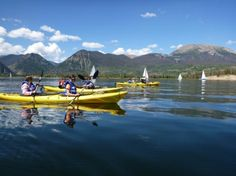 Kayaking Frisco Bay with sailboats in the background