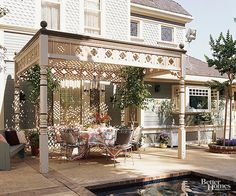 Add a unique and elegant look to your backyard with a pergola. Pergolas are great to create an entertaining area or section off an outdoor kitchen. Or they can simply serve as a private place to relax in your backyard. Check out this gallery of pergolas and add this to your summer remodel list!