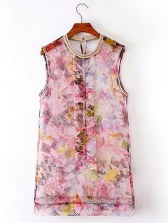 Round Neck Floral Top