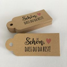 """· 30 gift tags · x · Kraft · colored """"Beautiful . Lower Body Fat, Happy 30th, 17th Birthday, 30 Gifts, Cute Little Things, Scrap, Paper Cards, Just Married, School Supplies"""