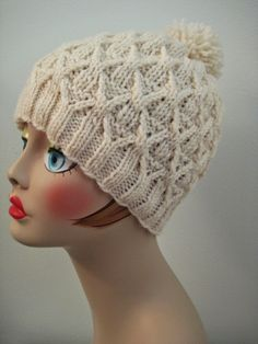 Balls to the Walls Knits: Wickerwork Hat Free Knitting Pattern. Beanie Knitting Patterns Free, Baby Hats Knitting, Beanie Pattern, Free Knitting, Knitted Hats, Knit Or Crochet, Crochet Hats, Knitting Projects, Crochet Projects