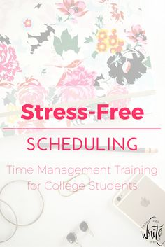 Stress-Free Scheduling: Time management tips and training for college students. This ecourse provides in-depth productivity hacks and guidance so that you can overcome procrastination, do well in class, get good grades, and improve your study habits. Click to learn more!