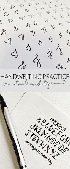 Handwriting Practice Tools & Tips - free handwriting worksheets #handwriting #handlettering