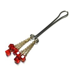Clit Clip  14k Gold Fringe Red Crystal Cubes  Non by #BoDivas #clitclip #intimate