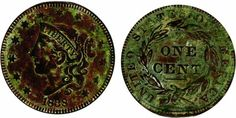 1838 Large Cent - Chevy Chase - Lexington