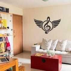 Adesivo de Parede Music Angel, é um adesivo decorativo de parede Adesivo decorativo para você ter em uma parede, pode ser ela do quarto, da sala, corredo...