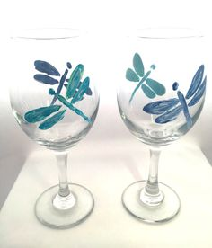 Hand Painted Dragonflies in Textured Finish