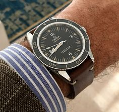 Omega Seamaster 300 Master Co-axial leather handmade strap