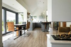 New Build In County Armagh Bungalow House Design, Modern Bungalow, House Designs Ireland, Living Room Designs, Living Spaces, Armagh, Modern Farmhouse Exterior, Dream House Plans, House Roof