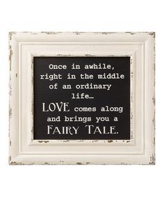 This 'Fairy Tale' Framed Box Sign is perfect! #zulilyfinds