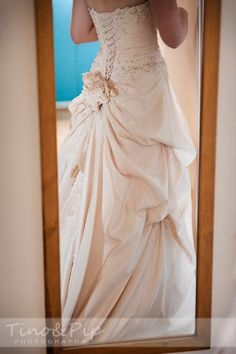 Amazing Dress! Romantic Wedding in Slaugham Place's Extraordinary Ruins www.tinoandpip.co.uk