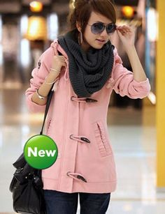 Graceful Pink Cotton Blend Concise Style Open Collar Long Sleeve Jackets & Coats