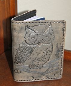 hand tooled owl passport holder #owl #passport #tooled @www.etsy.com/shop/edenforest
