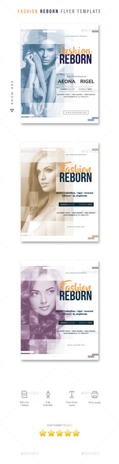 #Fashion Reborn #Flyer Template - Clubs & Parties Events